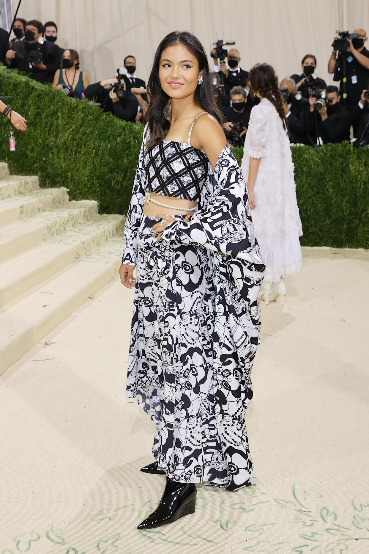Emma Raducanu attends The 2021 Met Gala Celebrating In America: A Lexicon Of Fashion at Metropolitan Museum of Art on September 13, 2021 in New York City. (Getty Images)