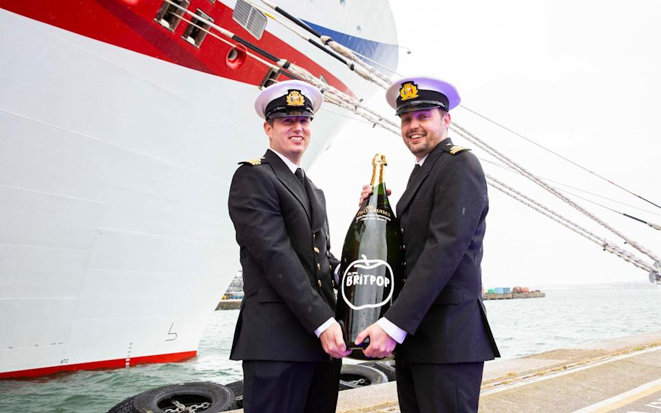 The ship was named with a specially produced Nebuchadnezzar of Britpop cider - P&O Cruises