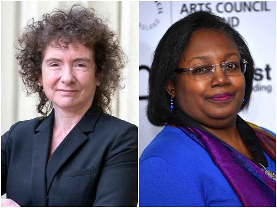 Winterson (left) and Blackman signed letter supporting trans and non-binary people (Getty Images)