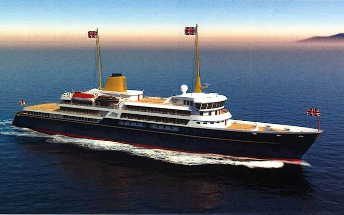 An image issued by 10 Downing Street showing an artist's impression of a new national flagship, - PA
