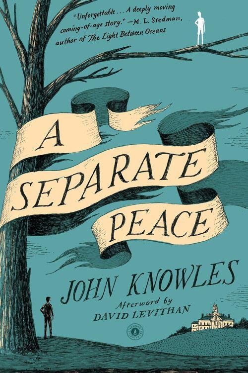 """<p><strong><em>A Separate Peace</em> by John Knowles</strong><br></p><p>$10.69 <a class=""""link rapid-noclick-resp"""" href=""""https://www.amazon.com/Separate-Peace-John-Knowles/dp/0743253973/ref=sr_1_1_twi_pap_2?tag=syn-yahoo-20&ascsubtag=%5Bartid%7C10050.g.35990784%5Bsrc%7Cyahoo-us"""" rel=""""nofollow noopener"""" target=""""_blank"""" data-ylk=""""slk:BUY NOW"""">BUY NOW</a></p><p>Set during World War II in New Hampshire and told through the narrator, Gene, <em>A Separate Peace</em> is about the loss of innocence for both he and his best friend, Phineas. As John Knowles' best-known work, this novel became a National Book Award finalist and a <em>New York Times</em> best-seller.</p>"""