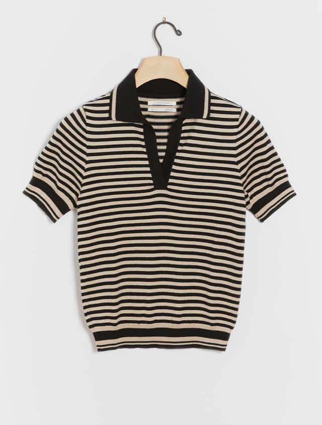Johanna Knit Polo Top (Photo via Anthropologie)