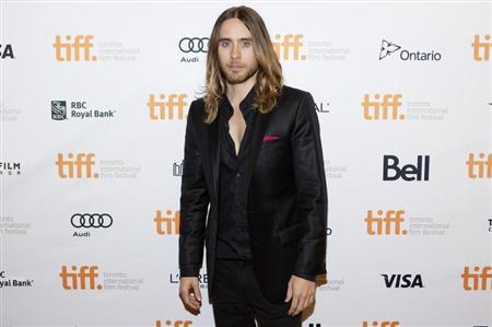 """Cast member and musician Jared Leto arrives for the """"Dallas Buyers Club"""" film screening at the 38th Toronto International Film Festival in Toronto"""