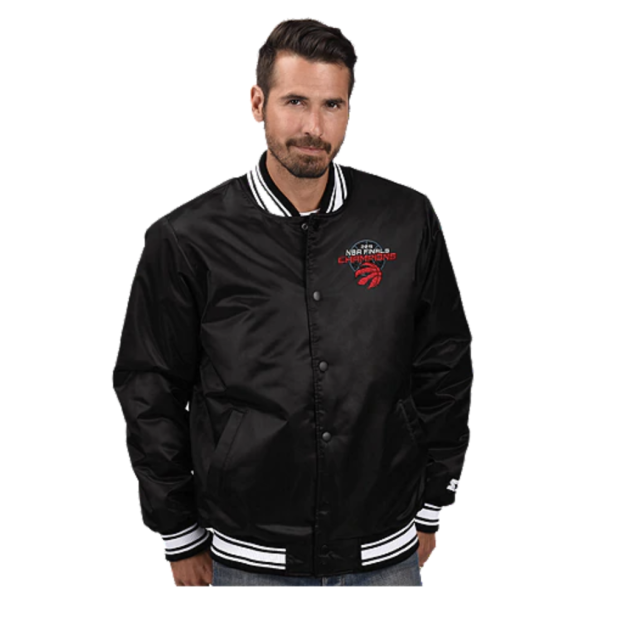 (Toronto Raptors Men's 2019 Champs Starter Satin Jacket)