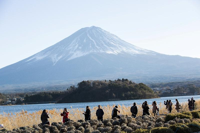 Tourists flock to world-famous sites such as Mount Fuji
