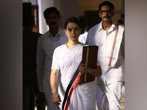 Kangana Ranaut in a still from 'Thalaivi' (Image Source: Instagram)