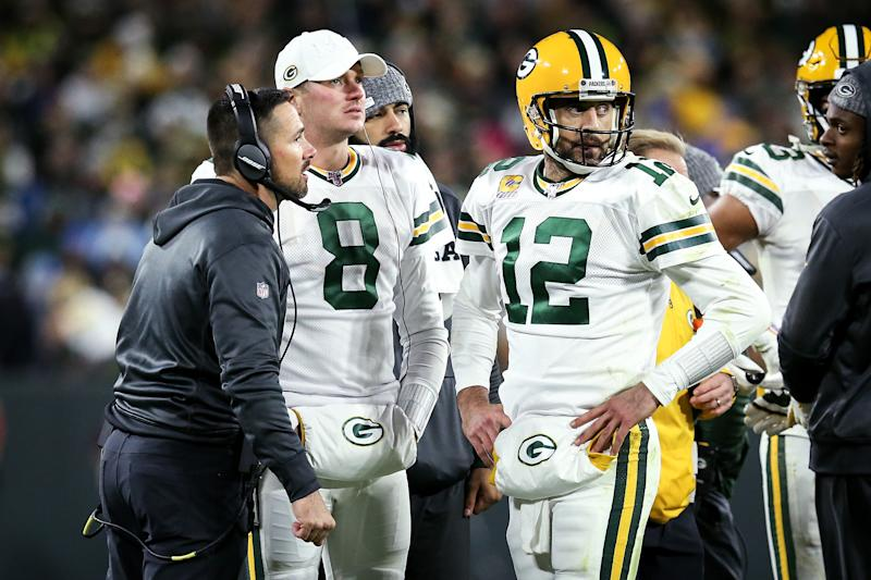 Matt LaFleur expects things to be fine in Green Bay after April's controversial draft pick. (Dylan Buell/Getty Images)