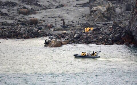 <span>Six bodies have been successfully recovered from White Island and are now on board HMNZS Wellington</span> <span>Credit: Getty </span>