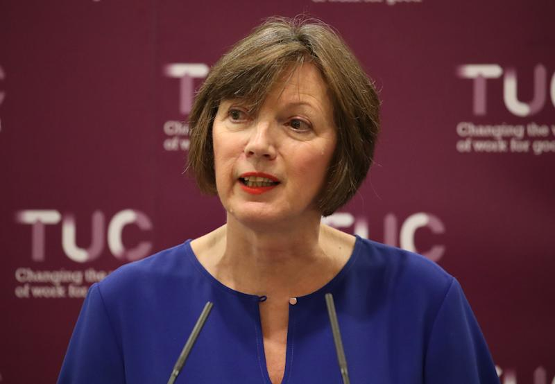 Frances O'Grady, General Secretary of the Trades Union Congress, during a press conference at the Grand Hotel in Brighton on day one of the 2019 TUC Congress.