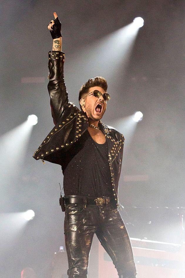 Adam performing with Queen earlier this year in Berlin. Photo: Getty Images