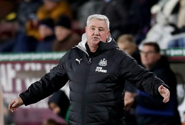Newcastle manager Steve Bruce has been frustrated by injuries (Martin Rickett/PA)
