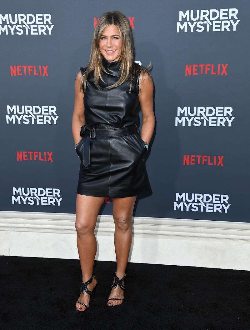 Jennifer Aniston pictured at the LA Premiere Of Netflix's 'Murder Mystery' at Regency Village Theatre on June 10, 2019 in Westwood, California. [Photo: Getty]