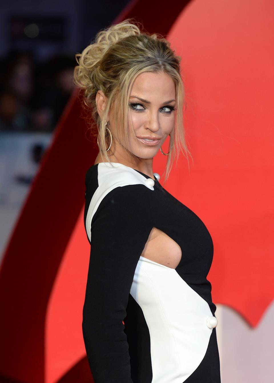Sarah Harding attending the European Premiere of Batman v Superman: Dawn Of Justice in Leicester Square, London.