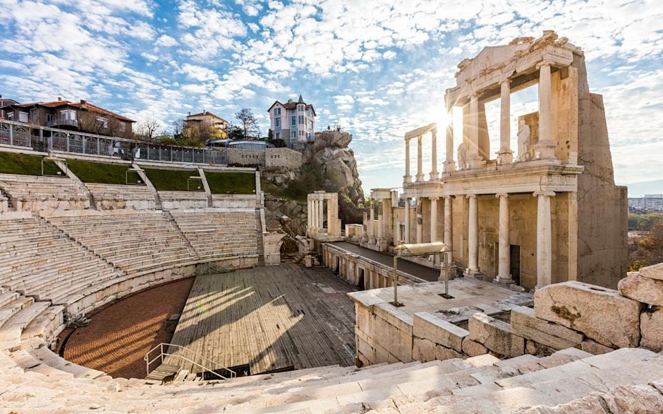 Roman ruins in Plovdiv - getty