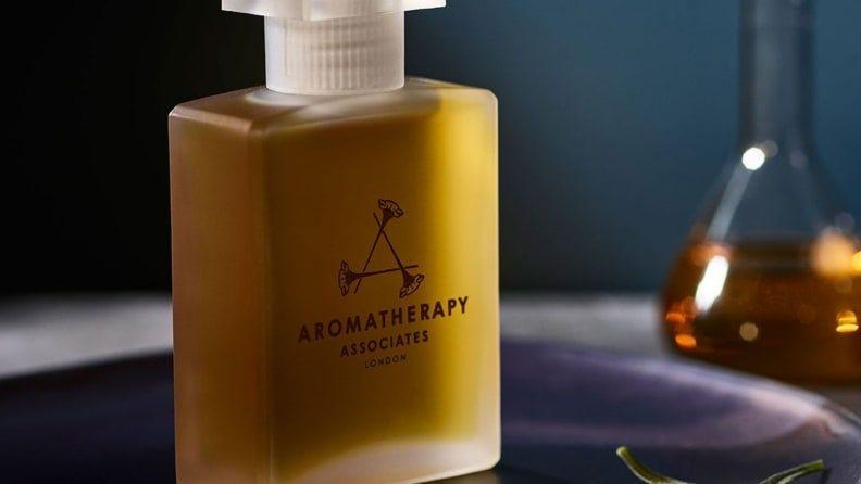 Aromatherapy's Deep Relax Bath and Shower Oil contains sandalwood and chamomile.