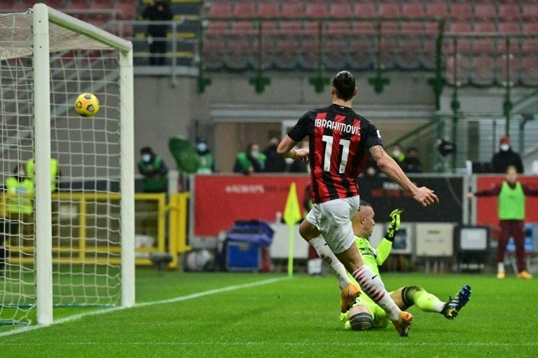 Ibrahimovic powering Milan towards a first league title since 2011.