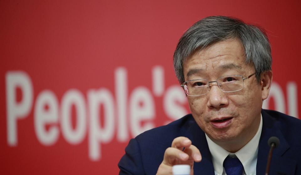 Yi Gang, the governor of the People's Bank of China. Photo: EPA-EFE