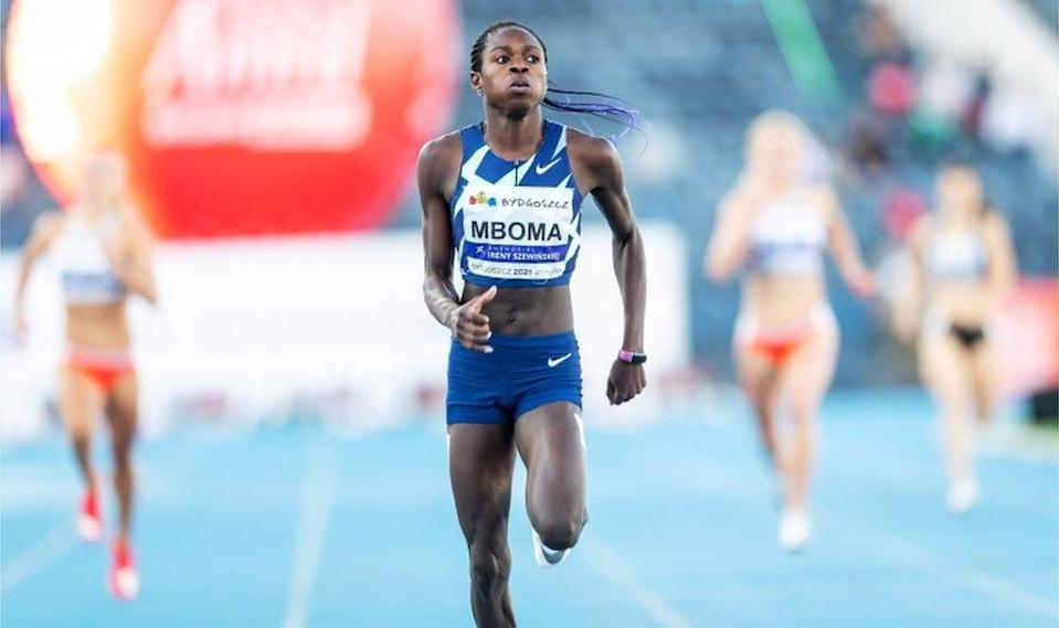 Christine Mboma of Namibia sets a new World under-20 record in a women's 400m race at the Irena Szewinska Memorial athletics meeting in Bydgoszcz, Poland, on 30 June 2021