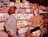 "<p>Grocery stores serve as a reflection of what is going on in society. From the surge of big supermarkets in the 1950s consumerism phase to stocked canned food aisles during the Cold War, there have been a lot of shifts since the first store was <a href=""https://time.com/4480303/supermarkets-history/"" rel=""nofollow noopener"" target=""_blank"" data-ylk=""slk:conceptualized in 1916"" class=""link rapid-noclick-resp"">conceptualized in 1916</a>. See for yourself how shopping for food has evolved over the last 100 years.</p>"