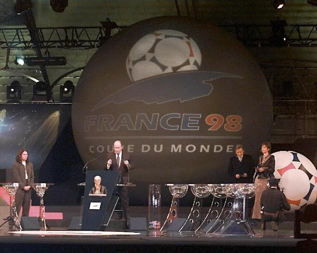 Sepp Blatter ran the World Cup draw in the Velodrome in Marseille in 1997. (AFP Photo/GABRIEL BOUYS)