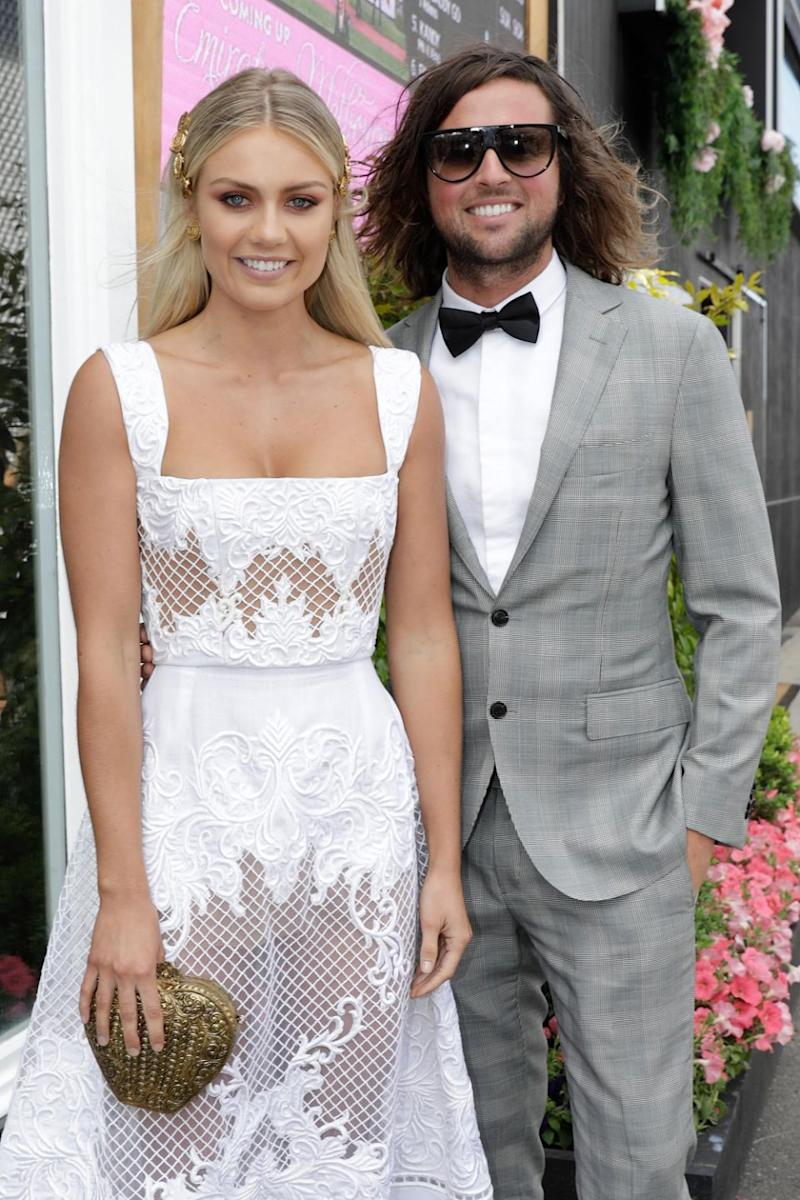 She and partner Josh Barker looked super chic together. Photo: Getty