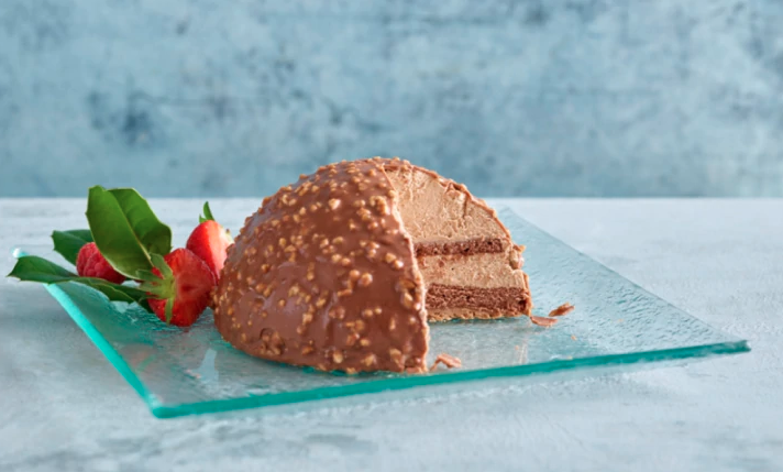 Specially Selected Chocolate and Praline Dome from, Aldi Christmas Ferrero Rocher dessert