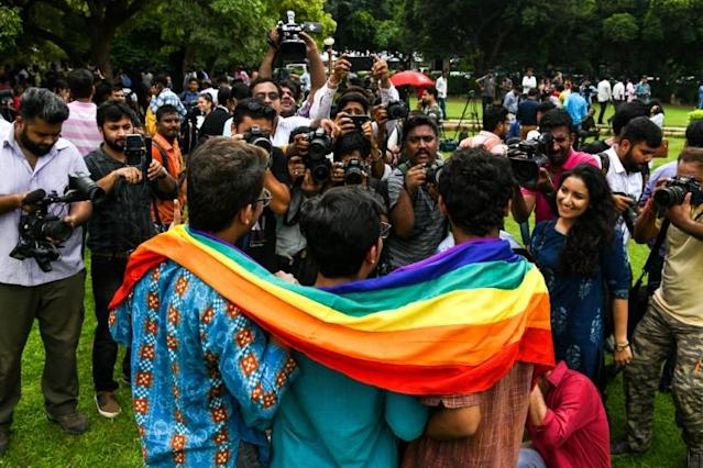<p>India's LGBT community has celebrated the end of the notorious Section 377 of the penal code, which until Thursday banned same-sex acts. </p>
