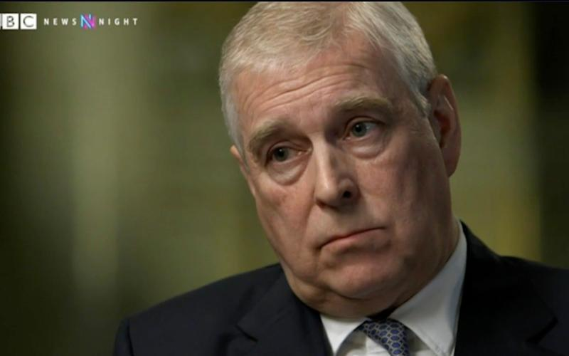 Prince Andrew appears on Newsnight - BBC