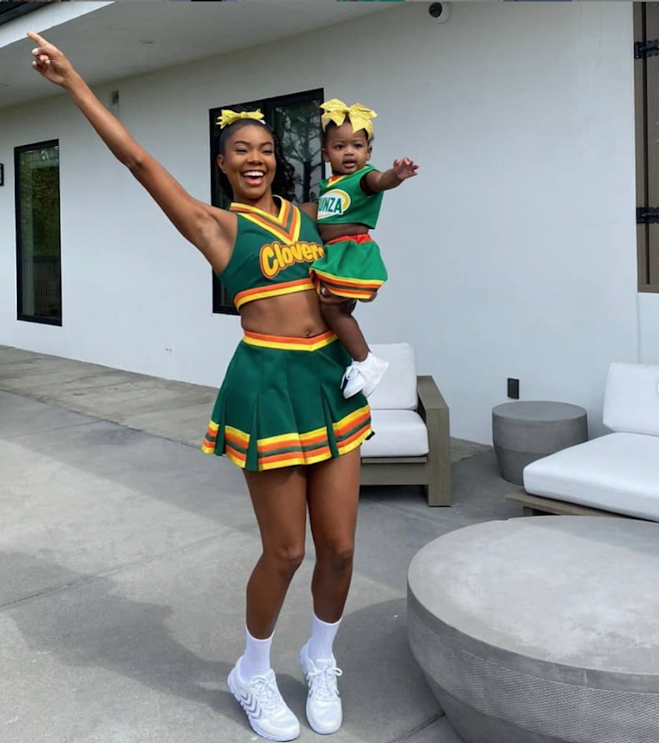 Union and her daughter wore matching costumes this year, tributing the actor's iconic character in <em>Bring It On</em>. There must be some Clovers in the atmosphere.
