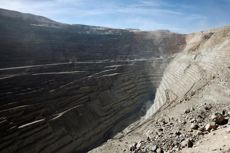 FILE PHOTO: A view of the Chuquicamata open pit copper mine in northern Chile