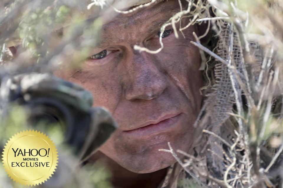 """<p>This Iraq War movie from <a rel=""""nofollow"""" href=""""https://www.yahoo.com/movies/tagged/doug-liman"""" data-ylk=""""slk:Doug Liman"""" class=""""link rapid-noclick-resp"""">Doug Liman</a> (<a rel=""""nofollow"""" href=""""https://www.yahoo.com/movies/film/edge-of-tomorrow"""" data-ylk=""""slk:Edge of Tomorrow"""" class=""""link rapid-noclick-resp""""><em>Edge of Tomorrow</em></a>) is a cat-and-mouse thriller rather than a battlefield epic. Its tight focus lands on two U.S. soldiers (<a rel=""""nofollow"""" href=""""https://www.yahoo.com/movies/tagged/aaron-taylor-johnson"""" data-ylk=""""slk:Aaron Taylor-Johnson"""" class=""""link rapid-noclick-resp"""">Aaron Taylor-Johnson</a> and <a rel=""""nofollow"""" href=""""https://www.yahoo.com/movies/tagged/john-cena"""" data-ylk=""""slk:John Cena"""" class=""""link rapid-noclick-resp"""">John Cena</a>) who are pinned down by an unseen sniper, with only a rapidly crumbling wall to provide cover. 