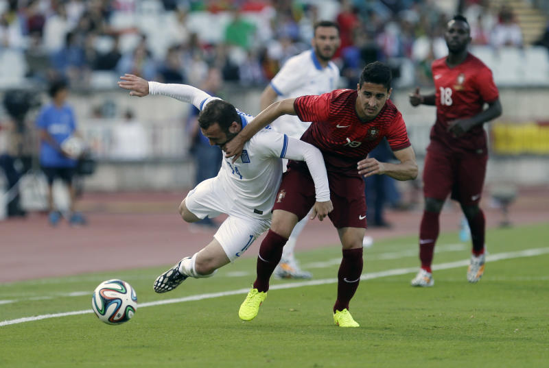 Portugal draws 0-0 with Greece in WCup warm-up