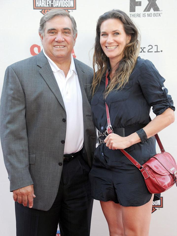 "Dan Lauria and Cathryn Farnsworth attend the ""Sons of Anarchy"" Season 5 premiere screening at Westwood Village on September 8, 2012 in Los Angeles, California."