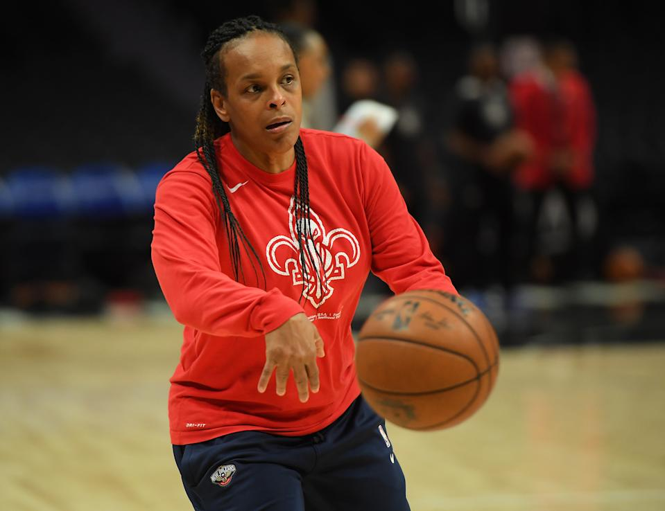 Assistant coach Teresa Weatherspoon of the New Orleans Pelicans