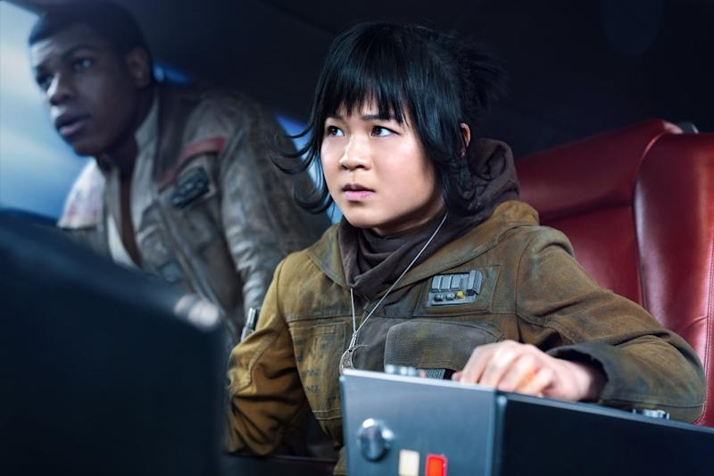 John Boyega and Kelly Marie Tran in Star Wars: The Last Jedi. (Disney/Lucasfilm)