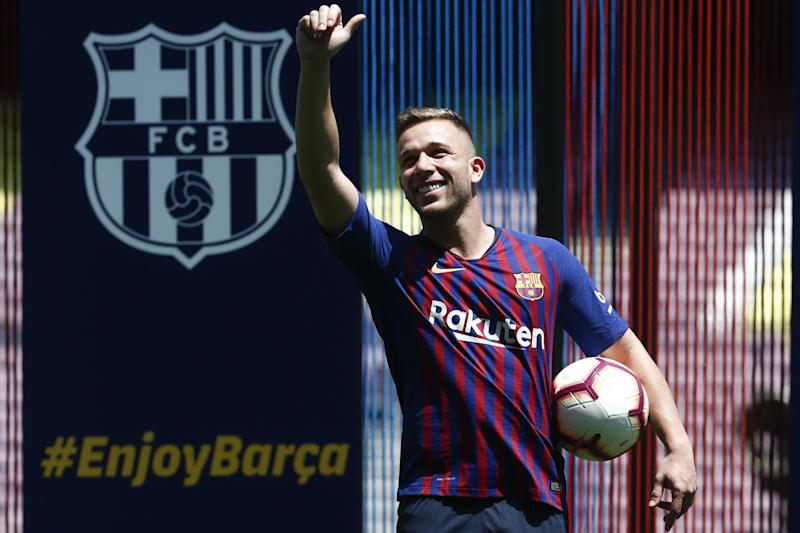 New arrival | Barcelona's new signing, Brazilian midfielder Arthur, cost £35m: AFP/Getty Images