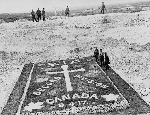 Memorial to men of the 2nd Canadian Division who were killed at Vimy Ridge, July 1918. Credit: William Rider-Rider. Canada. Department of National Defence. Library and Archives Canada
