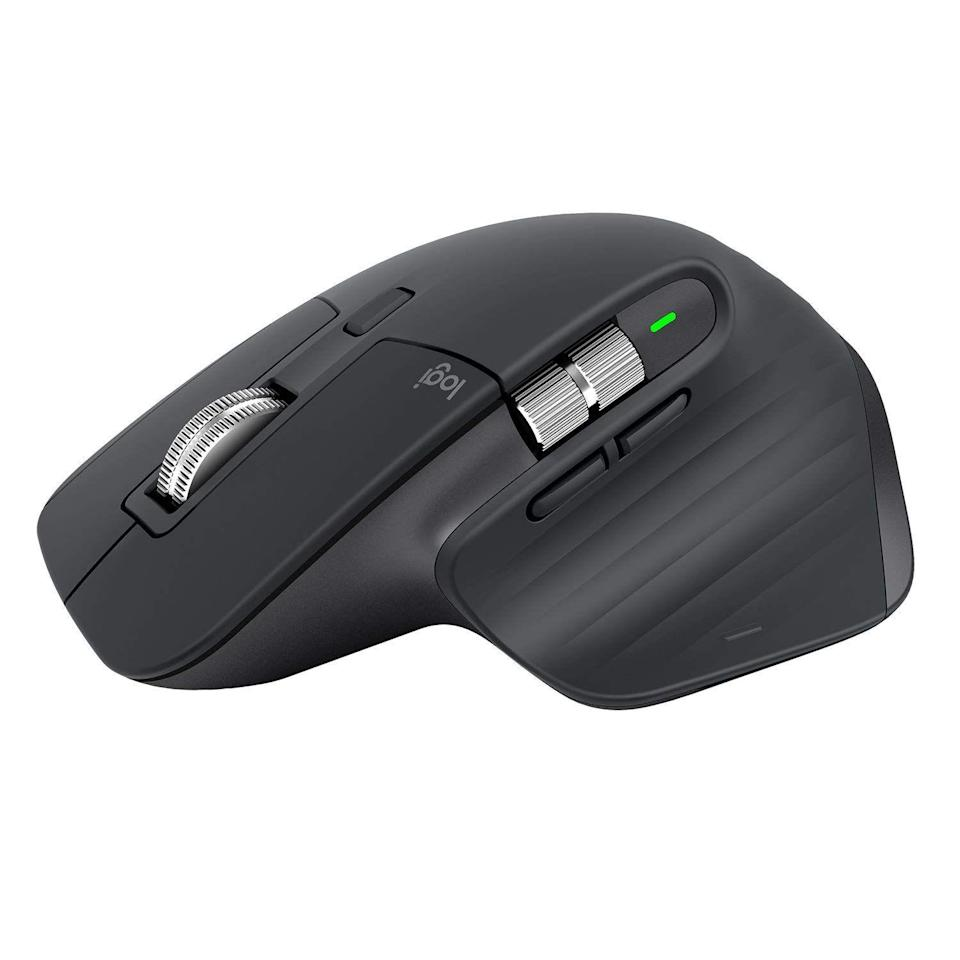 """<p><strong>Logitech</strong></p><p>amazon.com</p><p><strong>$99.99</strong></p><p><a href=""""https://www.amazon.com/dp/B07S395RWD?tag=syn-yahoo-20&ascsubtag=%5Bartid%7C2089.g.864%5Bsrc%7Cyahoo-us"""" rel=""""nofollow noopener"""" target=""""_blank"""" data-ylk=""""slk:Shop Now"""" class=""""link rapid-noclick-resp"""">Shop Now</a></p><p>The Logitech MX Master 3 Advanced wireless mouse is hands-down the best of its kind. The accessory has clever ergonomic design, a host of customizable buttons, and the best scrolling wheel in the business. Crafted from stainless steel, the latter utilizes cutting-edge electromagnetic edge for a quiet and ultra precise scrolling.</p><p>Compatible with PC and Mac, the gadget can pair with and seamlessly switch between two computers running Windows 10 and macOS. Its battery can last for months between charges. </p><p>We like that Logitech has equipped the mouse with a USB-C connector for charging.</p>"""
