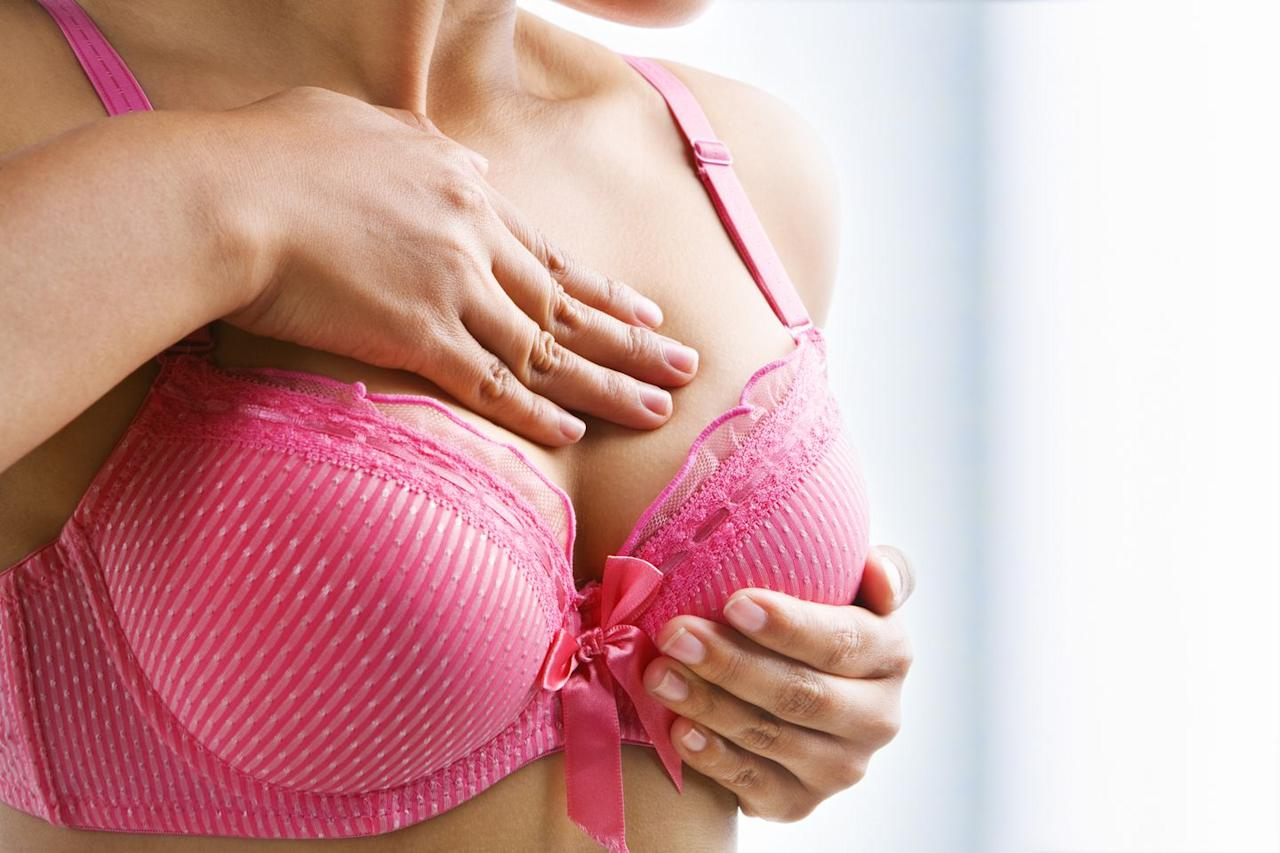 "<p>Because we've been conditioned to look for lumps<a rel=""nofollow"" href=""https://www.womansday.com/health-fitness/womens-health/g2639/how-to-prevent-breast-cancer/""> during self-exams</a>, our fears automatically sky-rocket if we feel one. But there's no reason to panic just yet. ""The vast majority [of women] who feel a mass in their breast won't have cancer,"" says Otis Brawley, M.D., chief medical officer for the <a rel=""nofollow"" href=""https://www.cancer.org/"">American Cancer Society</a>. </p><p>In fact, 75% of the time a lump is something less serious, like a cyst or a <a rel=""nofollow"" href=""https://www.ncbi.nlm.nih.gov/pubmedhealth/PMHT0025029/"">benign non-cancerous growth</a>, Dr. Brawley says. It could also be related to your menstrual cycle, says <a rel=""nofollow"" href=""https://medicine.fiu.edu/about/faculty-and-staff/people/crunowic.html"">Carolyn D. Runowicz</a>, M.D., professor of obstetrics and gynecology at Florida International University. </p><p>That said, if you find a lump, schedule a visit to the doctor as soon as possible. Your <a rel=""nofollow"" href=""https://www.womansday.com/health-fitness/a5656/8-things-your-ob-gyn-wants-to-tell-you-118224/"">OBGYN</a> will want to perform a physical exam, and may decide to follow up <a rel=""nofollow"" href=""https://www.womansday.com/health-fitness/womens-health/advice/a7952/breast-exams/"">with an ultrasound and/or mammogram</a> if necessary.</p>"