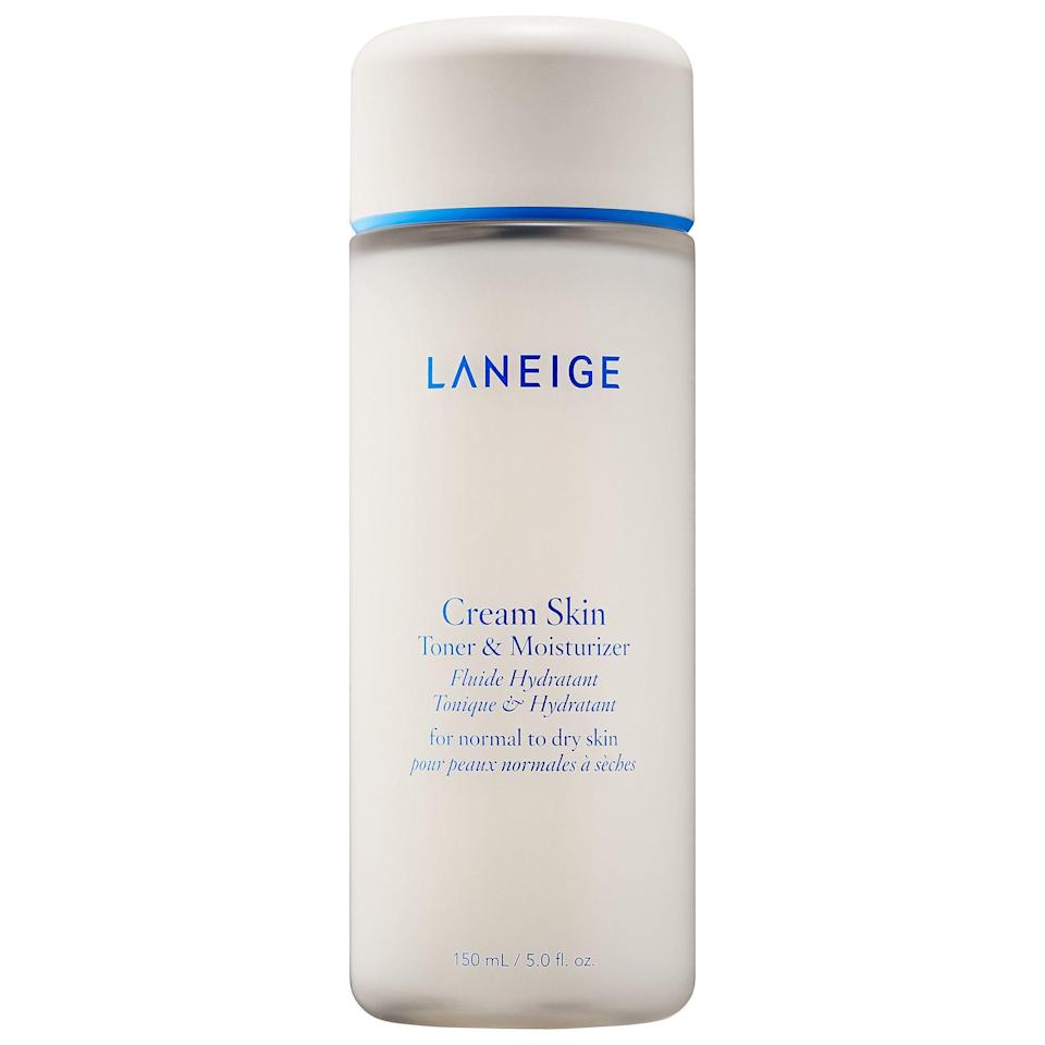 """<p><strong>LANEIGE</strong></p><p>sephora.com</p><p><strong>$33.00</strong></p><p><a href=""""https://go.redirectingat.com?id=74968X1596630&url=https%3A%2F%2Fwww.sephora.com%2Fproduct%2Fcream-skin-toner-moisturizer-P446930&sref=https%3A%2F%2Fwww.oprahmag.com%2Fbeauty%2Fskin-makeup%2Fg32959694%2Fbest-korean-skin-care-products%2F"""" rel=""""nofollow noopener"""" target=""""_blank"""" data-ylk=""""slk:Shop Now"""" class=""""link rapid-noclick-resp"""">Shop Now</a></p><p>According to Dr. Chang, """"cream skin"""" is the new emerging K-beauty trend that's going to be everywhere in 2020. """"Cream skin actually refers to a type of skincare product, which is a hybrid of a toner and lotion, to achieve more hydrated, luminous skin,"""" she explains. Bonus, this two-in-one combo helps simplify your routine, without sacrificing important steps.</p>"""