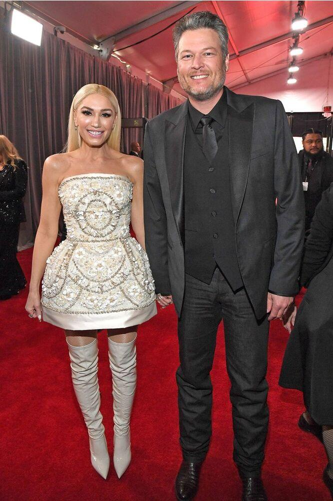 From left: Gwen Stefani and Blake Shelton at the 2020 Grammy Awards | Kevin Mazur/Getty