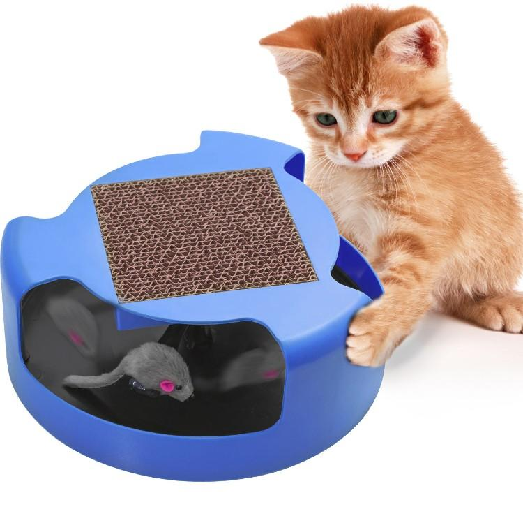 Cat Mouse Play Toy with Scratching Post Pad for Pup Animal Interactive Training. (Photo: Ebay)