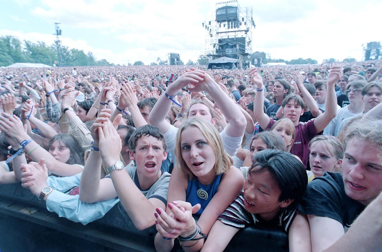 A record number of fans applied to see Oasis at Knebworth, with more than 2.5 million people requesting a ticket. (Stefan Rousseau/PA Images via Getty Images)