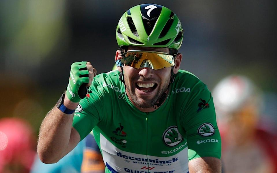 Mark Cavendish -Mark Cavendish sprints to 'just another win on the Tour de France ' to match Eddy Merckx's stage record - REUTERS