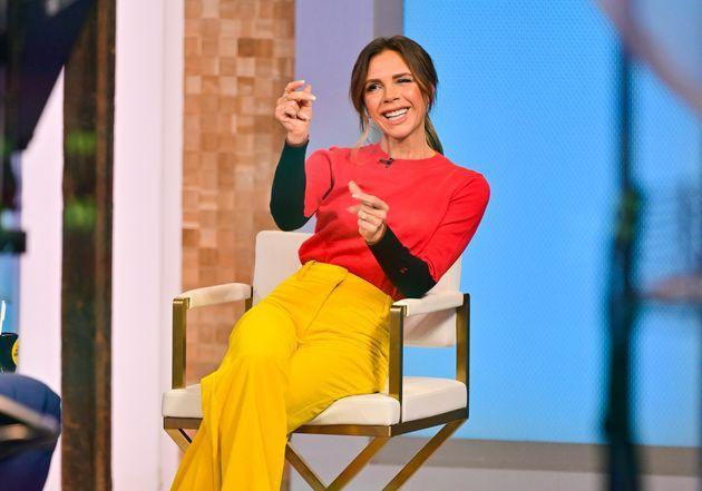 Victoria Beckham visits ABC's Good Morning America in Times Square on October 12, 2021 in New York City. (Photo by James Devaney/GC Images) (Photo: James Devaney via Getty Images)