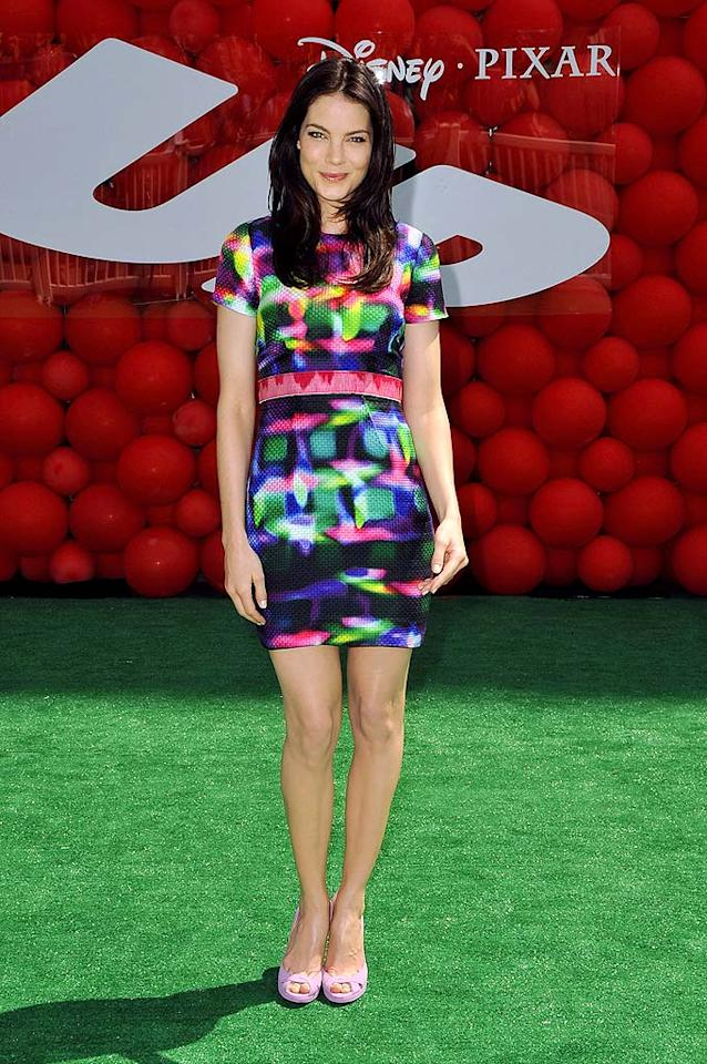 """Michelle Monaghan (""""Eagle Eye"""") delivered head-to-toe hotness in a Peter Som print dress, pink belt, and lilac heels at the premiere of Pixar's """"Up."""" Jordan Strauss/<a href=""""http://www.wireimage.com"""" target=""""new"""">WireImage.com</a> - May 16, 2009"""