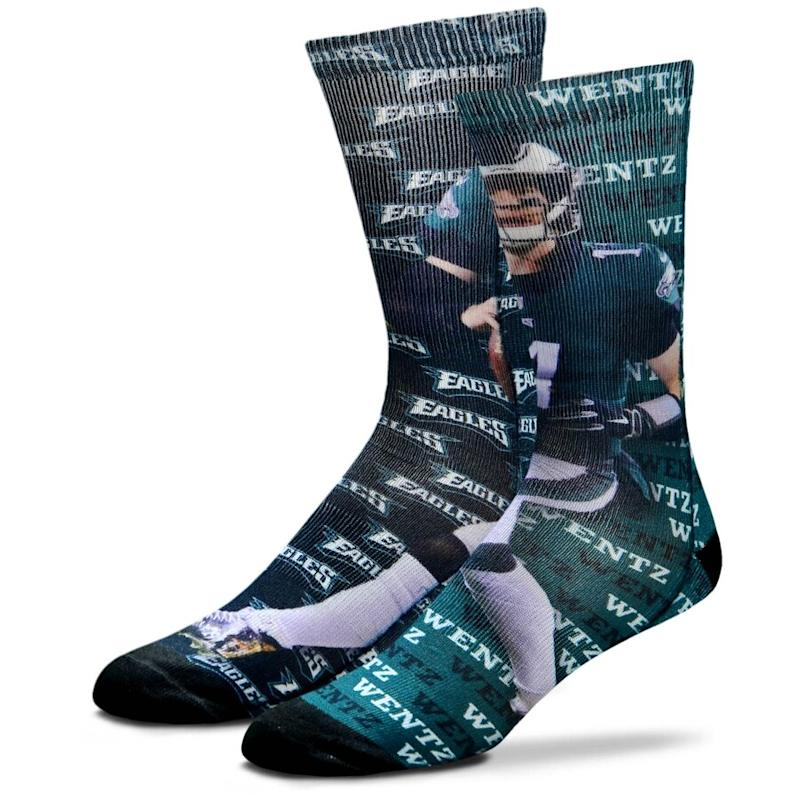 Carson Wentz Philadelphia Eagles Say My Name Crew Socks