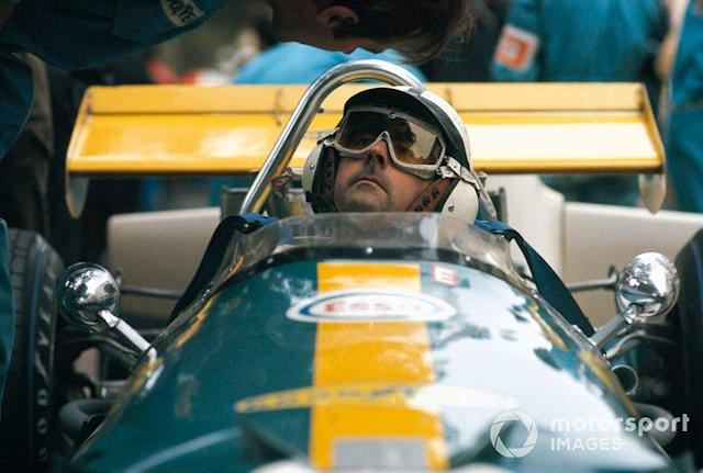 """Jack Brabham, Brabham BT33 Ford sits in the pits <span class=""""copyright"""">Rainer W. Schlegelmilch</span>"""