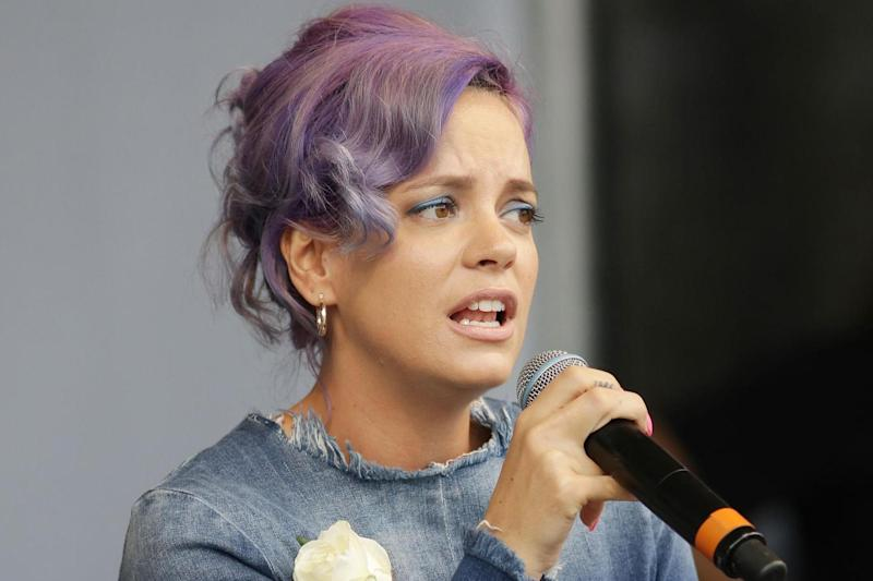 Abuse: Lily Allen took to Twitter after the attack: PA
