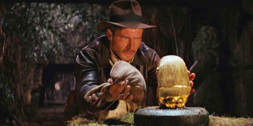 """<p><a class=""""link rapid-noclick-resp"""" href=""""https://www.netflix.com/search?q=indiana+jones"""" rel=""""nofollow noopener"""" target=""""_blank"""" data-ylk=""""slk:WATCH NOW"""">WATCH NOW</a></p><p>You don't have to venture through ancient temples and nearly get run over by a giant boulder to stream the adventures of Indiana Jones. The Harrison Ford epics, including<em> Raiders of the Lost Ark</em> (1981), <em>Temple of Doom</em> (1984), <em>The Last Crusade</em> (1989), and even <em>Kingdom of the Crystal Skull </em>(2008), are currently streaming on Netflix. </p>"""